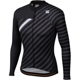 Sportful Bodyfit Team Langarm Winter Trikot Herren black/anthracite/white
